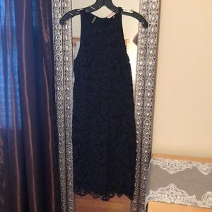 Rebecca Taylor size 2 midi navy dress